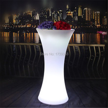 Logo Customized PE Plastic Multi Color Changing Battery Rechargeable Shape Canton Tower LED Flower Pot Remote Control Plant Pot(China)