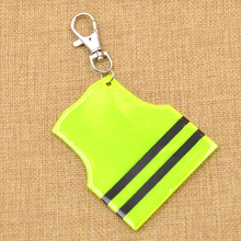 fashion lychee 3 Pc 3 Colors Cool Police Vest Reflective Charm Keychain Mobile Phone Strap Pendant Key Ring