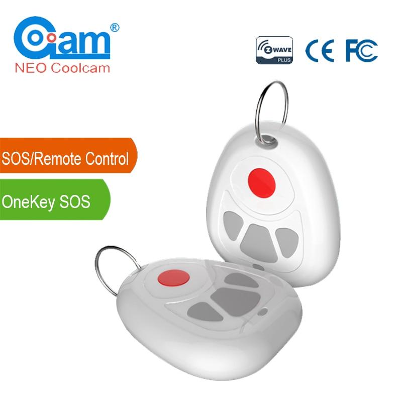 NEO COOLCAM NAS-RC03Z Z-wave Plus Smart Home One Key SOS Remote Control Sensor Z wave Smart Home Automation Sensor