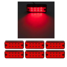 1pcs Amber Red Waterproof Brand New 12V 24V 8 LED Side Marker Light Lamp Truck Trailer Lorry Caravan Waterproof(China)