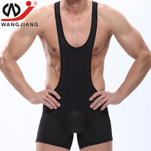 Buy WJ Gay Mens Bodysuit Wrestling Singlet bodysuit Latex Erotic Wrestling Singlet Mens Sexy Bodysuit Body Suit Sexy Lingerie Fetish