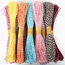 High Quality 18meters/lot 2mm Raffia Paper Cord Rope Kid's Handmade Cartoon Fabric Paper Twine String Packing Decor DIY Craft