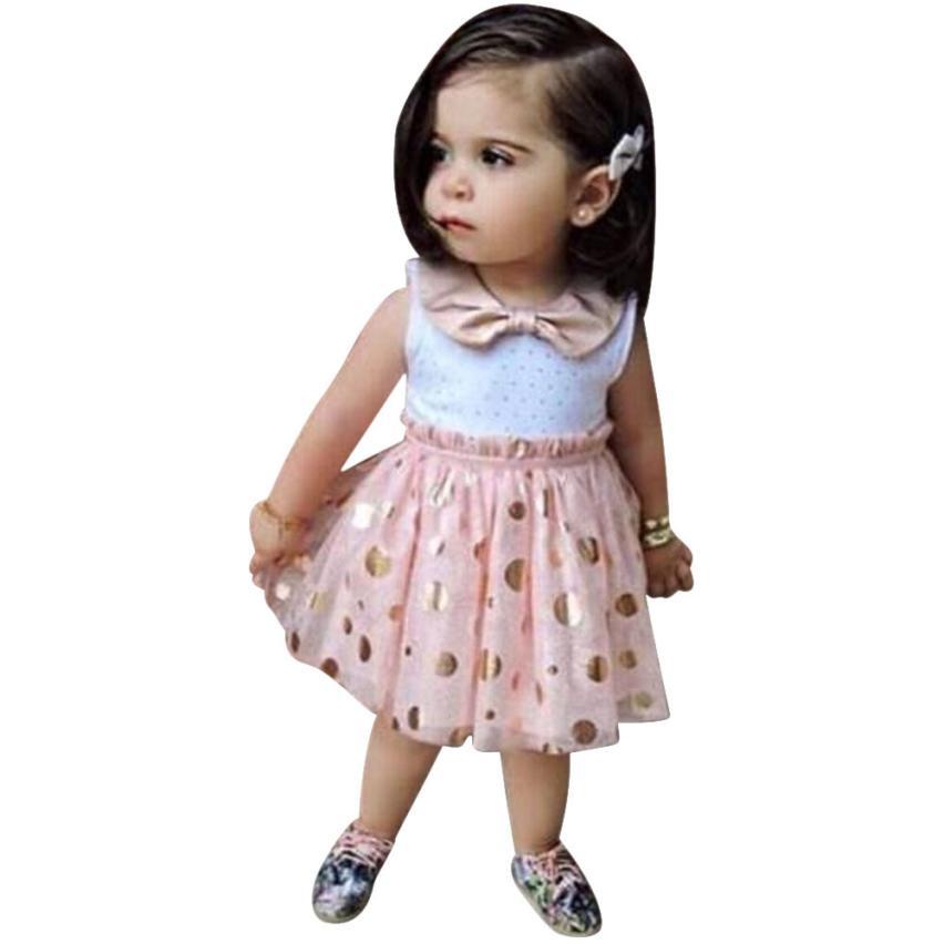 kids dresses for party girls Bow Polka Dot ball gown girls dresses for wedding summer style baby girl dress ropa de ninas lovely<br>