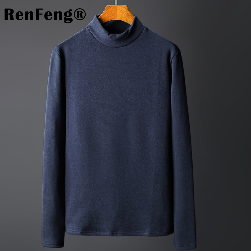 Men\`s Tops Tees 2018 summer new cotton high neck Long sleeve t shirt men fashion trends fitness tshirt Under shirt free shipping (5)