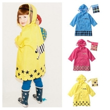S-XL Big size Cartoon Kids Raincoat Waterproof Baby Poncho Unisex Rain Coat Lovely Rain Suit 2015 Fashion Veste De Pluie
