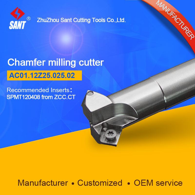Refer to CMA01-025-G25-SP12-02 or AC01.12Z25.025.02 Chamfer Milling Tools for Inserts SPMT120408<br>