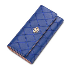Fashion Women's Purses Women Coin Clutch Long Wallets Luxury Brand Ladies Zipper Card Holder Passport purse Female Casual Wallet(China)