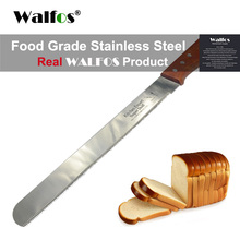 WALFOS food grade 30cm Cake Knife Stainless Steel Knife with Wooden Handle Bread Cutting Tools Baking & Pastry Tools(China)
