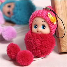 2pcs/lot Mini lovely exquisite small plush toy Key&Bag Chain Phone Strap Random Color