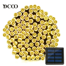Dcoo Solar LED String Lights 22meter 200 LEDs Waterproof 8 Modes Fairy Christmas Lights Outdoor Lighitng Garden Party Lights(China)