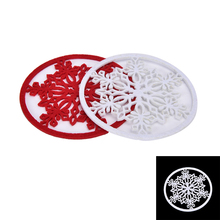4PCS High Quality Christmas Snowflake Cup Mat Placemat Mug Pad Coasters Kitchen Table Decor Wholesale