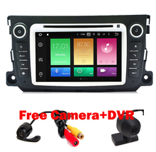 Android 6.01 Two Din 7 Inch Car DVD Player For Mercedes-Benz Smart Fortwo 2012 2013 2014 Wifi GPS Navigation FM RadioD RDS DVR