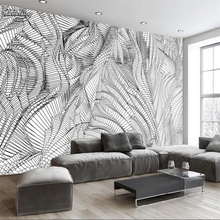 beibehang Abstract modern black and white relief geometric box background wall custom large mural nonwoven wallpaper
