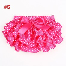 Baby Ruffle Bloomers Newborn Diaper Cover Floral Pattern Baby Satin Shorts Baby Girl Cake Smash Clothing Tutu Pettiskirt(China)