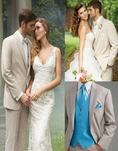 2016 Custom Made Men Tuxedo Lapel tailore Suit Luxury And Comfort With An Open Cut Jacket Wedding Clothes (Jacket+Pants+Vest)