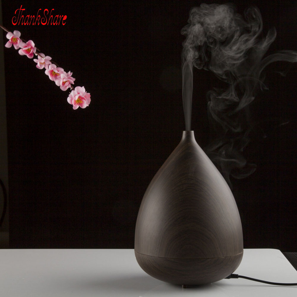 THANKSHARE Essential Oil Aroma Diffuser Ultrasonic Humidifier Aroma LED Light Auto Stop Air Purifier Mist Maker Aromatherapy<br>