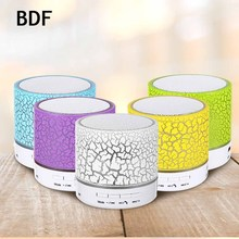 BDF Portable Mini LED Bluetooth Speakers Wireless Small Music Audio Light Stereo Speaker For Android with Mic support TF USB(China)