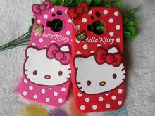 1pcs Cute 3D Cartoon Hello Kitty Polka Dot Soft Silicone Case For HTC One M9 Plus / M9+ silicon back cover cell phone cases