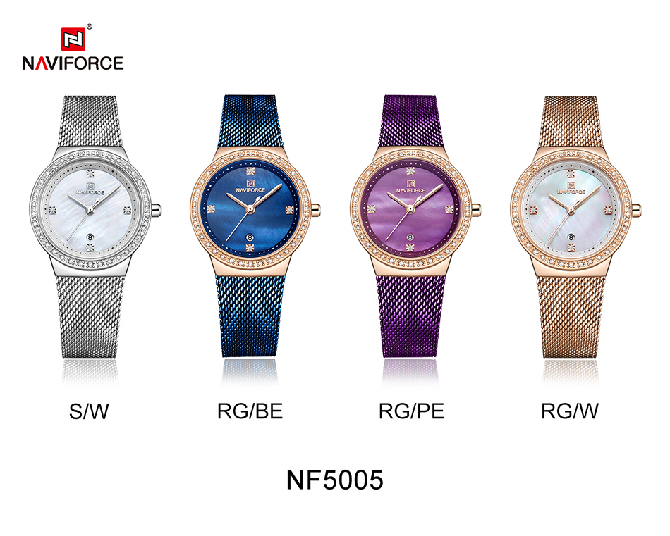 NAVIFORCE New Rose Gold Women Watch Business Quartz Watch Ladies Top Brand Luxury Female Wrist Watch Girl Clock Relogio Feminin (10)