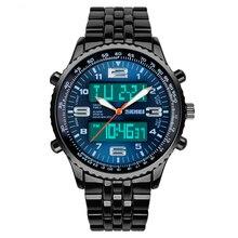 Skmei СВЕТОДИОДНЫЕ Электронные Часы погружения 30 м Кварцевые часы мужчины luxury brand Военные Часы Из Нержавеющей Стали Многофункциональный Наручные Часы подарок