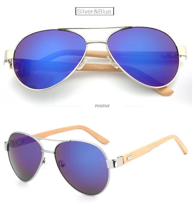 AZB1510 new classic fashion sunglasses men's / ladies colorful reflective coating lenses glasses accessories bamboo sunglasses