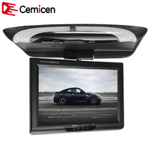 Cemicen 9 Inch 800*480 Car Roof Mount LCD Color Monitor Flip Down Screen Overhead  Multimedia Video Ceiling Roof mount Display