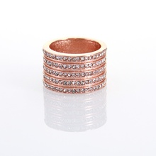 TS Eternity Rings Rose Gold Color Five Rows White Zirconia-pave, Thomas Style Glam Good Bijoux Jewelry Best Soul Gift for Women