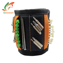 Geoeon Multi-function Magnetic Wristband Portable Tool Bag Electrician Wrist Tool for Holding Screws, Nails, Drill Bits D35(China)