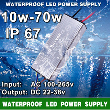 LED Driver Transformer Power Supply 10W 20W 30W 50W 70W AC 100-265V To DC 20-38V IP67 Waterproof LED Driver For LEDS Flood Light