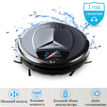 (RU Warehouse) LIECTROUX B3000PLUS Home Robot Vacuum Cleaner,Water Tank,Wet&Dry,TouchScreen,withTone,Schedule,Virtual,SelfCharge(China)
