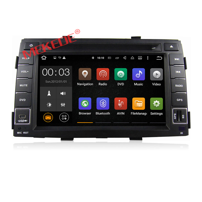 Free shipping 7inch  Android7.1 2G ARM  for KIA Sorento 2010 2011 2012 car audio radio player with gps navigator  dvd player