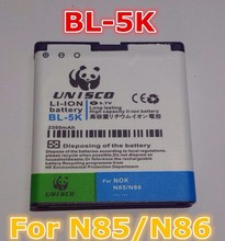BL-5K 2350mAh Li-ion Battery For Nokia N85 N86 N87 8MP 701 X7 C7 C7-00 C7 X7-00 2610S T7 Oro. BL 5K Rechargeable Phone Batteries