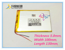 best battery brand  7 inch Tablet PC battery 50100130 3.7V 8000mAh high capacity battery flat tablet battery