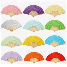 Buy 1pc Summer Fashion Handmake Chinese Hand Paper Fans Pocket Folding Bamboo Fan Wedding Birthday Event Party Favor Gift Supplies for $1.13 in AliExpress store