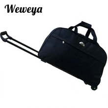 Weweya Wheel Luggage Trolley Bag Women Travel Bags Hand Trolley Unisex Bag Large Capacity Travel Bags Suitcase With Wheels(China)