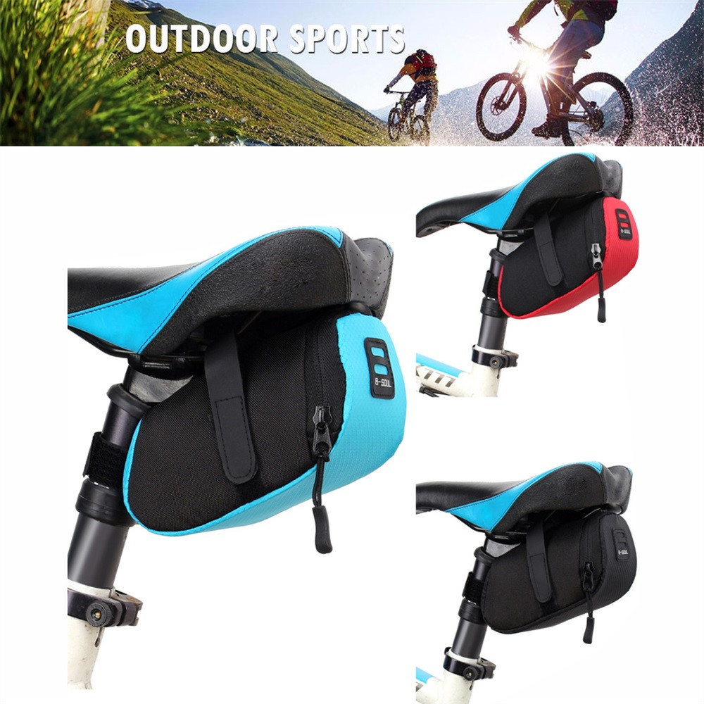 Bicycle Bike Waterproof Storage Saddle Bag Seat Cycling Tail Rear Pouch Panniers