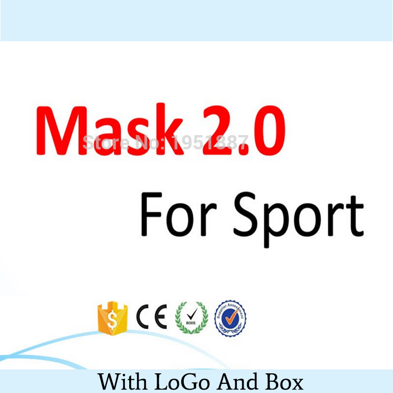 Newest Training Sport Mask 2.0 For Men Fitness Or  Outdoor Sport With Box,Logo And Free Shipping<br><br>Aliexpress