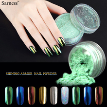 Sarness Newest Magic Nail Art Glitter chrome Powder Mirror Effect Laser Pigment Fine Dust DIY UV Gel Nail Polish phosphor paint