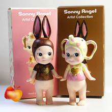 2pcs/lot 13-15CM artist collection Love lipstick animal sonny angel action figure set best kids toys for girl(China)