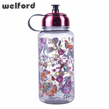 Sport Water Bottle 1000ml Large Capacity sports bottle for Water Tour Electroplate Lid Straw Butterfly water bottle bpa free(China)