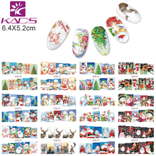 KADS BN229-240 Christmas Style Nail Stickers Snoflake / Santa / Bell / Deer Nail Art Water Transfer Decals Gull Wraps DIY Tool