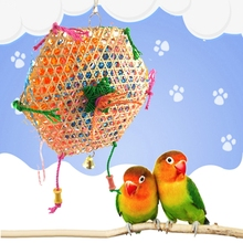 Misterolina Pet Bird Parrot Grass Swing Cage Toy Foraging Toys Chew Bites for Parakeet Cockatiel swing Cages Playing Toy ZYW3359(China)