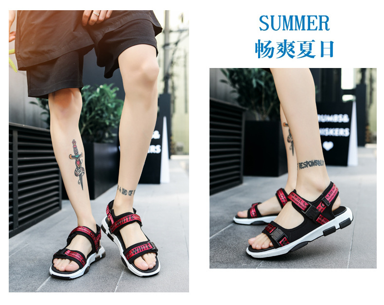 Summer Men Beach Sandals Fashion Breathable Walking Shoes Male Adult Comfortable Flat Sandals Outdoor Footwear Chaussures Homme 18 Online shopping Bangladesh