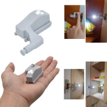 0.25W LED Sensor Light Universal Kitchen Bedroom Living Room Cabinet Cupboard Induction Closet Wardrobe Inner Hinge Light Lamp(China)