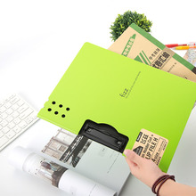 High Quality Candy Color File Folder Plastic Clipboard Exam Paper Document Folder School Stationery(China)