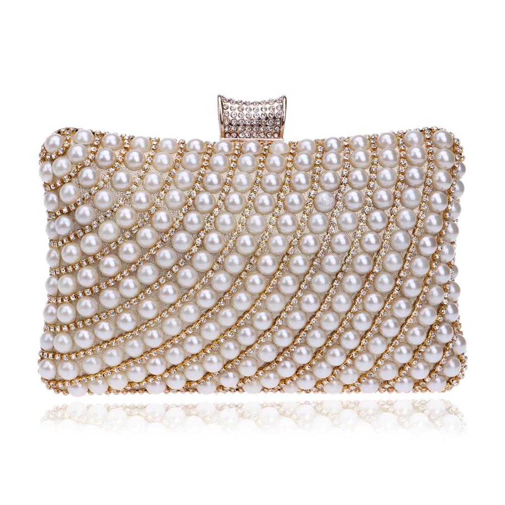 Hot Selling Women Handbags Beaded Rhinestones Purse Evening Bags Messenger Lady Pearl Diamonds Clutches Bags<br><br>Aliexpress