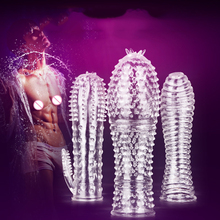 MizzZee medical silicone Crystal Clear condoms Adult sex products male penis lengthening sex toys for men Soft and comfortable(China)