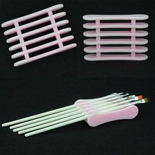 1pcs Pink UV Gel Brush Pen Holder Nail Art Fashion DIY Tools Needed Makeup Acrylic Display Stand Plastic Tools(China)