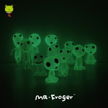 Mr.Froger Alien Figure Studio Ghibli Toys Mononoke Figurine Anime Figure Fluorescent Light Up Toys For Children Luminous Cartoon