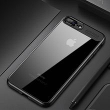 Buy Full Protective TPU & Acrylic Transparent Back Cover Cases iPhone 8 Case Luxury 6 6s 7 Plus X Case Cover iPhone 7 Case for $1.36 in AliExpress store